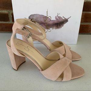 Jessica Simpson Niara Leather Chucky Heel Sandals